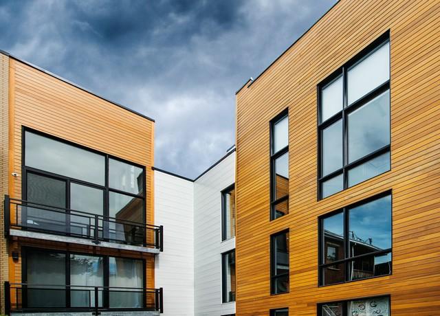 Dużym powodzeniem cieszą się również aluminiowe okna i drzwi/ fot. houzz.com